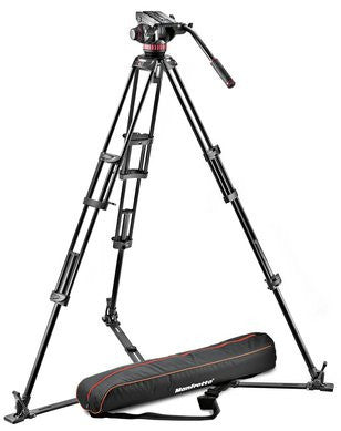 Manfrotto MVH502A, 546GB-1 Video Profesional Sistema de Aluminio-4KG