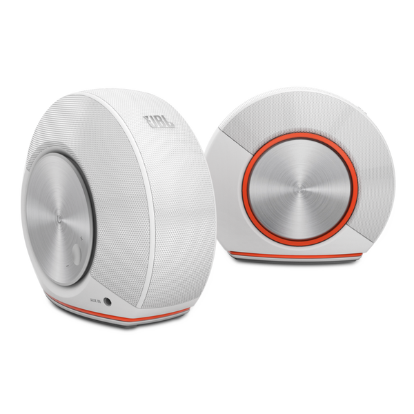 JBL Pebbles Stereo Computer System Blanco