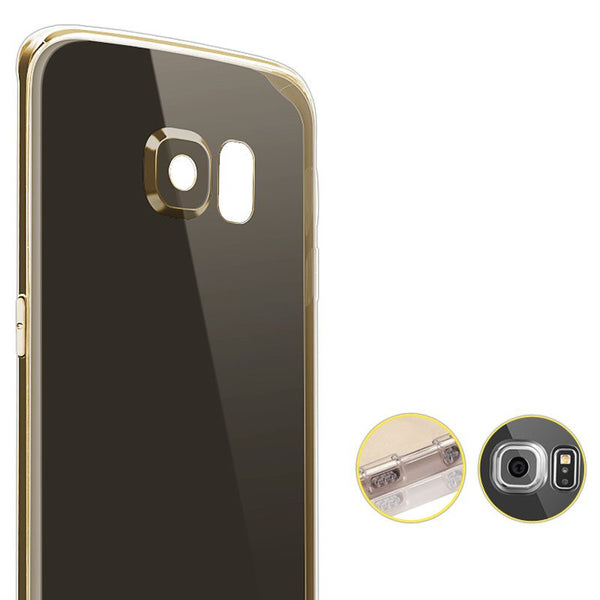 Samsung Galaxy S6 Edge silicioe Caso Exclusive Edition (Oro)