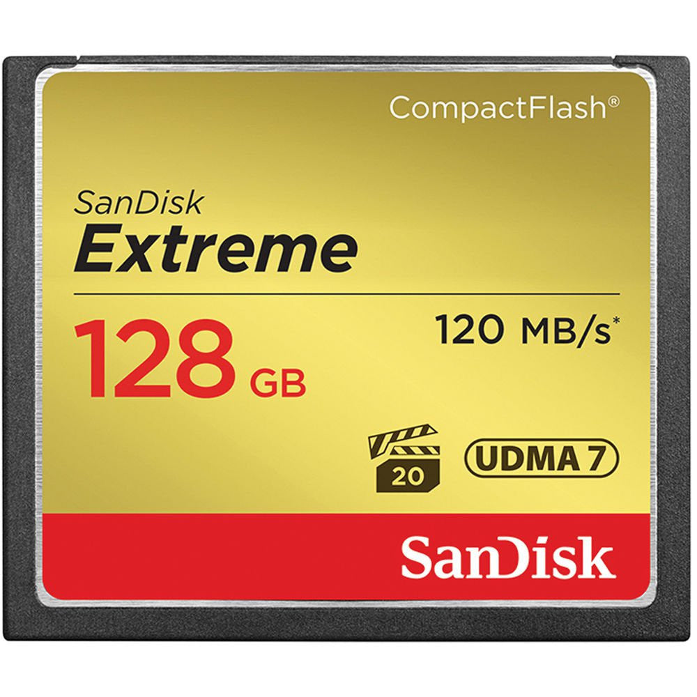 SanDisk Extreme S 128GB SDCFXSB-128G (120MB/s) Compact Flash Memory