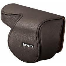 Sony LCS-EML1A marrón Leather Lente Jacket para 16mm