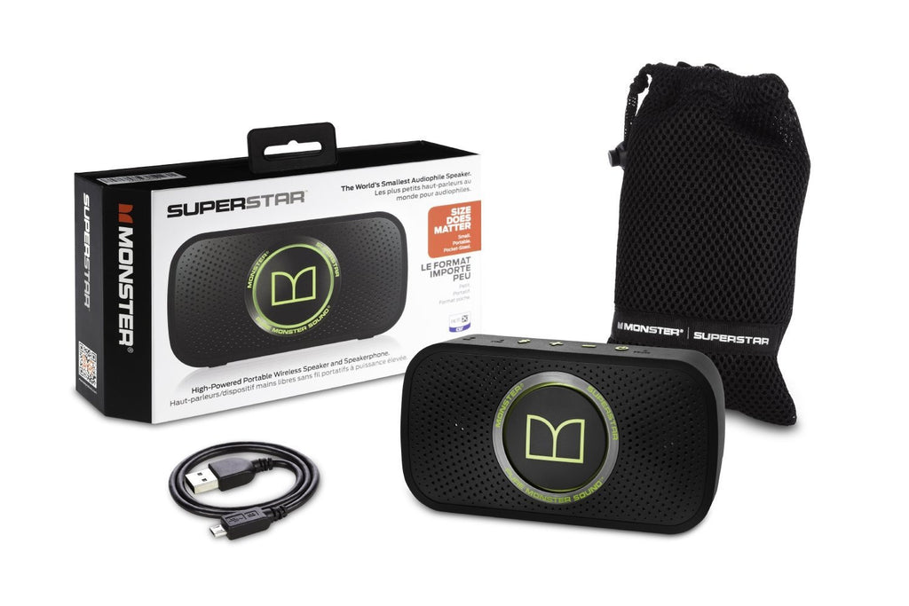 SuperStar High Definition Bluetooth Altavoz 720123 (Neon verde)