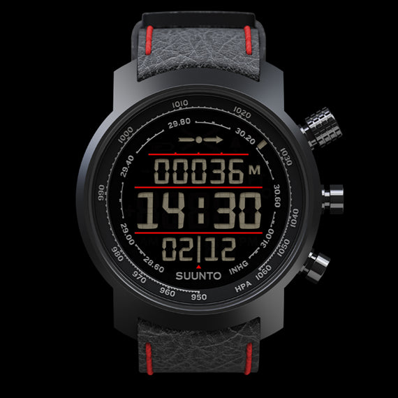 Suunto Elementum Terra SS019171000 Sports reloj Negro/rojo Leather