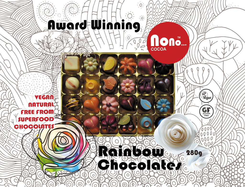 NEW! Nono Cocoa Exclusive - 24 Rainbow - Vegan Chocolate Gift Box