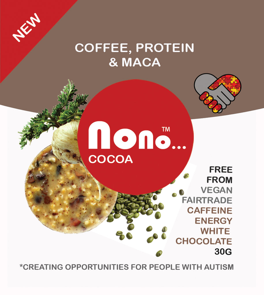 Nono Cocoa Chocolate Snacks - GREEN COFFEE & MACA