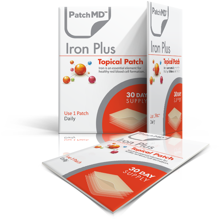 PatchMD Iron Plus™ Topical Patch - 30 daily patches