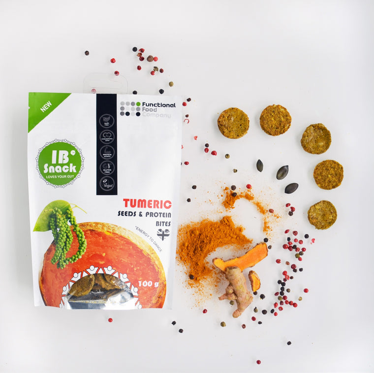 IBsnack - Savoury, Seeds & Protein Crackers - Turmeric- love your gut