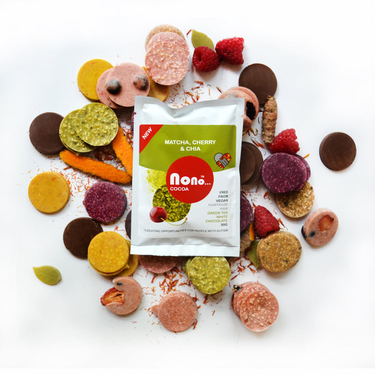 Nono Cocoa Chocolate Buttons - MATCHA TEA