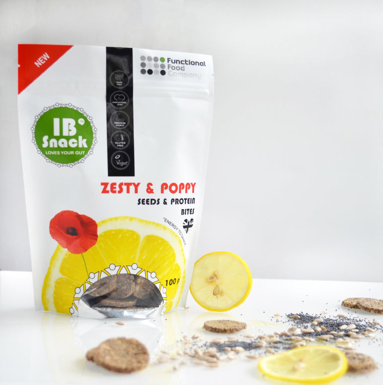 IBsnack - Savoury, Seeds & Protein Crackers - Zest & Poppy - love your gut
