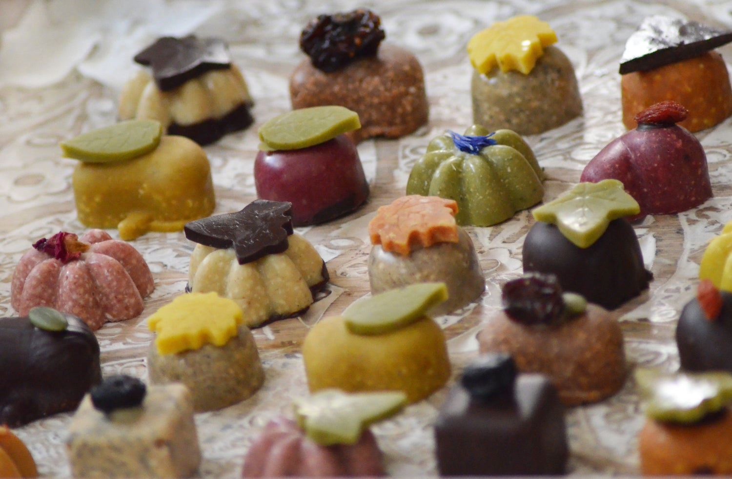 Luxury, Handmade, Vegan Chocolate  - Party Canapés Plate