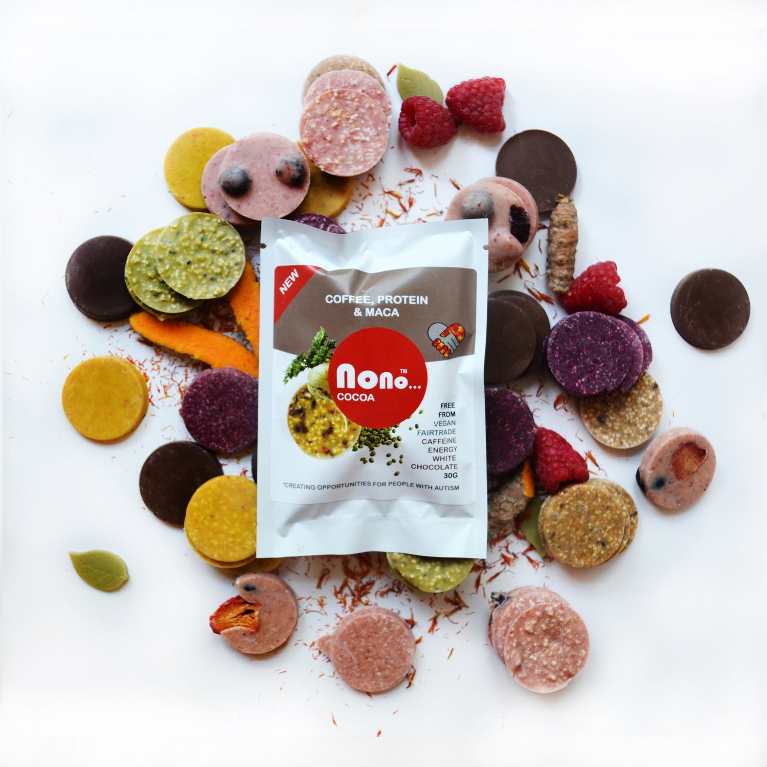 NEW Nono Cocoa Chocolate Snacks - GREEN COFFEE, PROTEIN & MACA