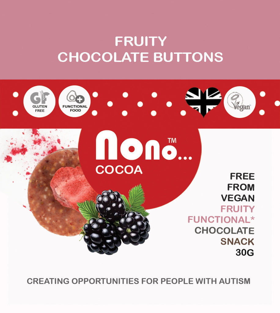 Nono Cocoa Chocolate Buttons - FRUITY WHITE CHOCOLATE