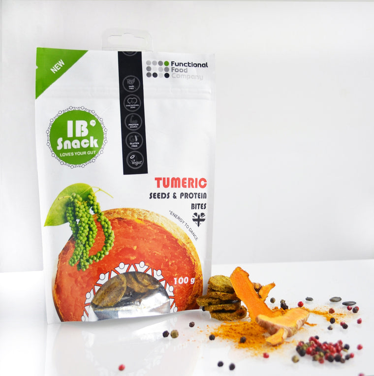 IBsnack - Savoury, Seeds & Protein Crackers - Turmeric- love your gut!