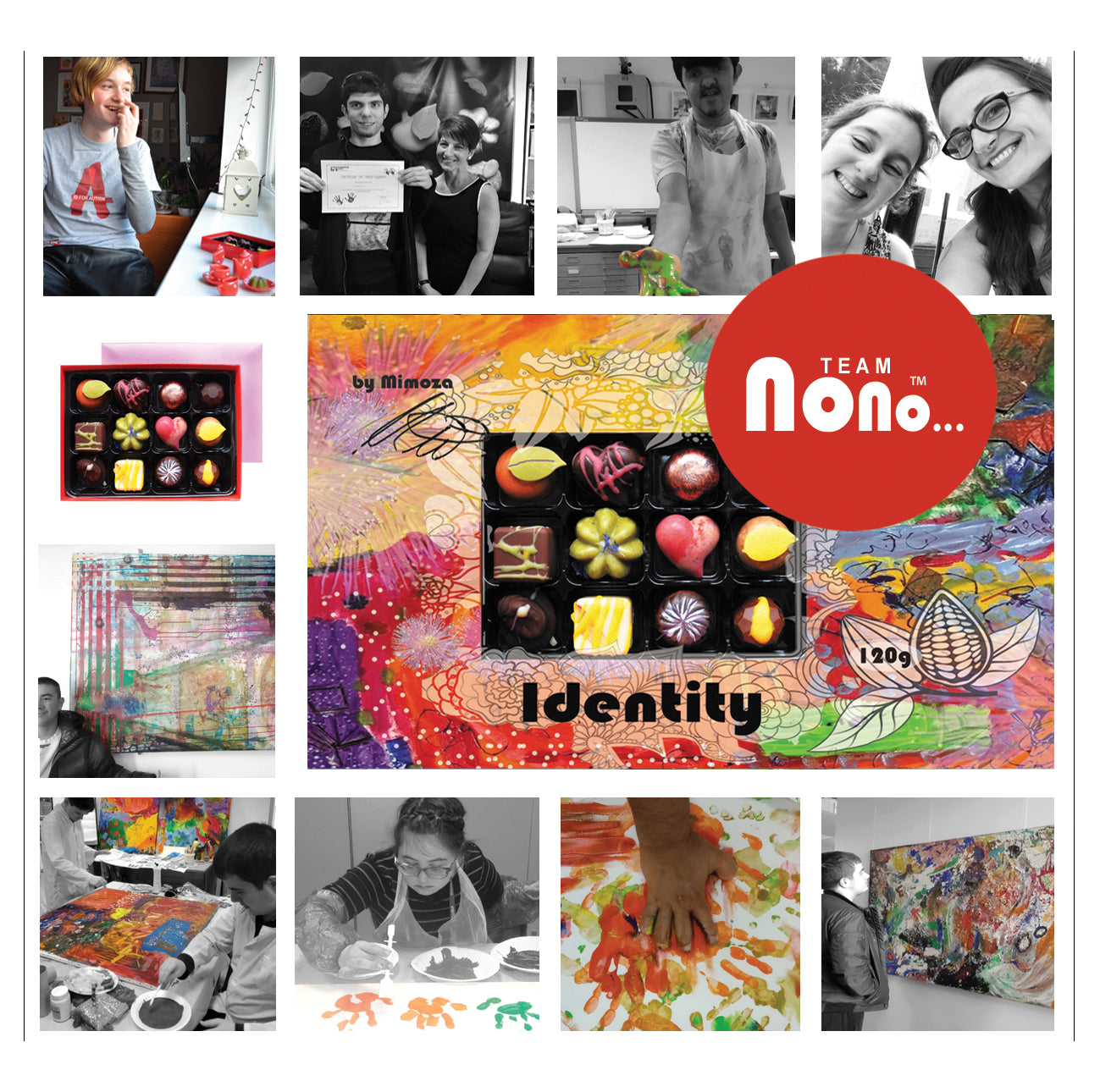 Team Nono's - Identity - Charity - Vegan Chocolate Box