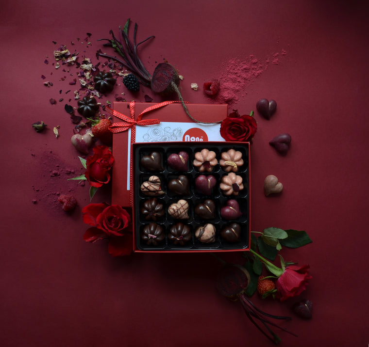 Nono Cocoa - Hearts & Roses - Vegan Chocolate Gift Box