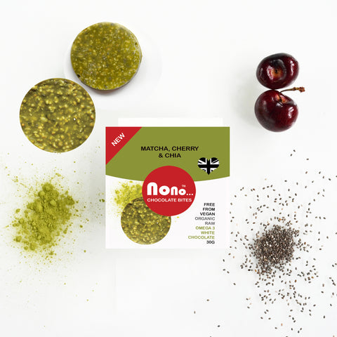 New! Chocolate Truffles - Nono MATCHA & SOUR CHERRY - ENERGY & OMEGA3