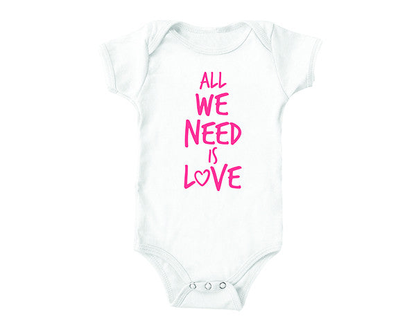All We Need Is Love (baby onesies)