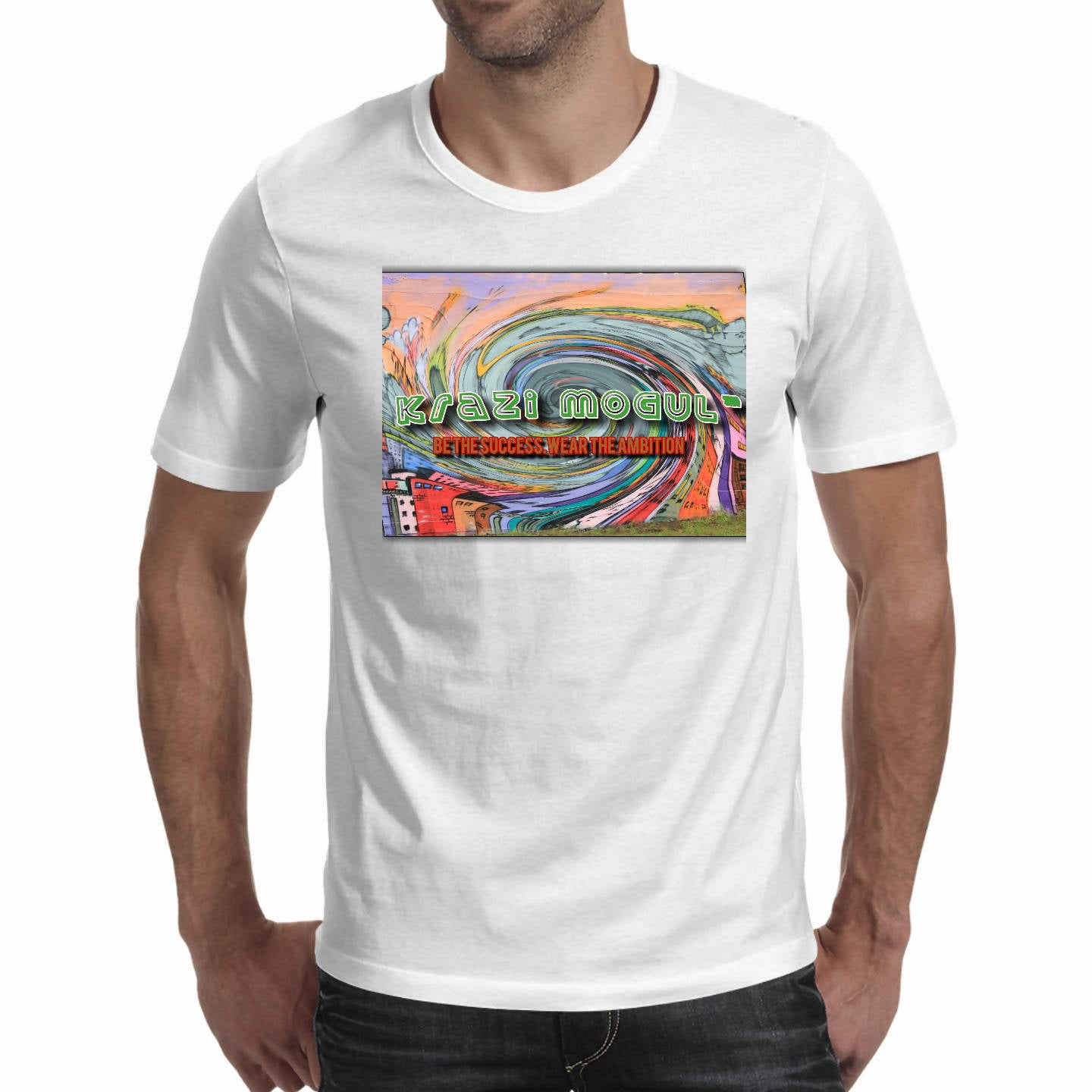 Whirl wind Art work-Men's T-shirts (Krazi Mogul)