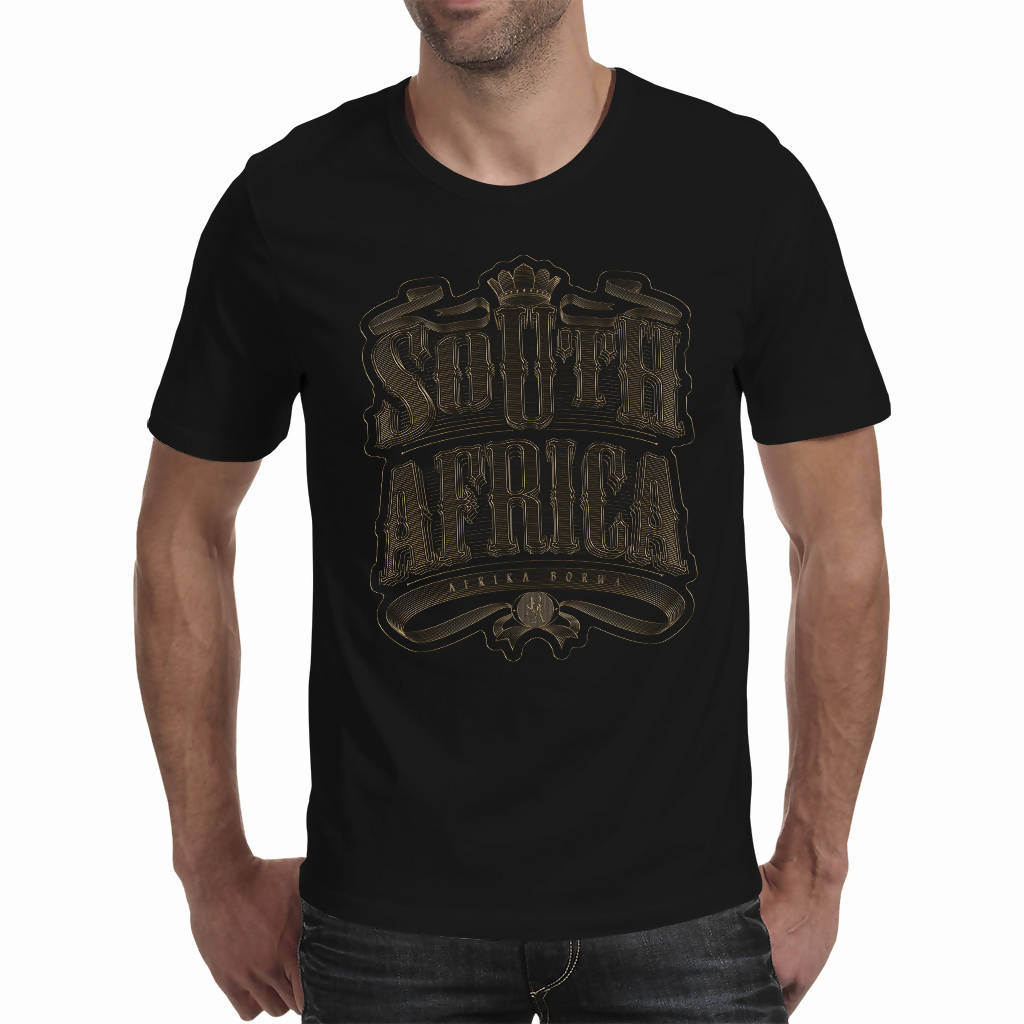 3D Gold South Africa Vintage Artwork A4 - Men's T-shirt (PAGAwear)