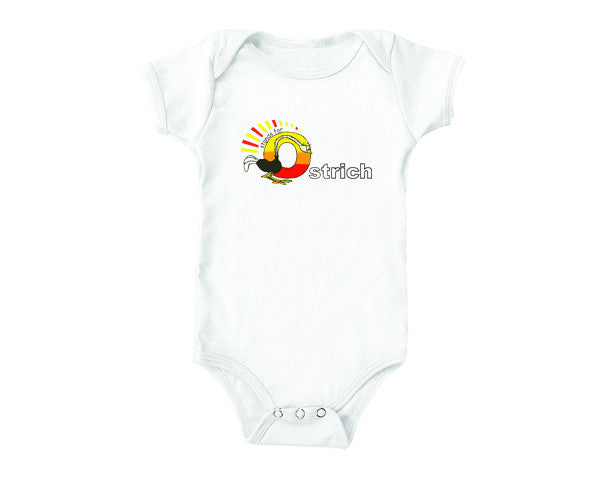 O is for Ostrich (baby onesies)