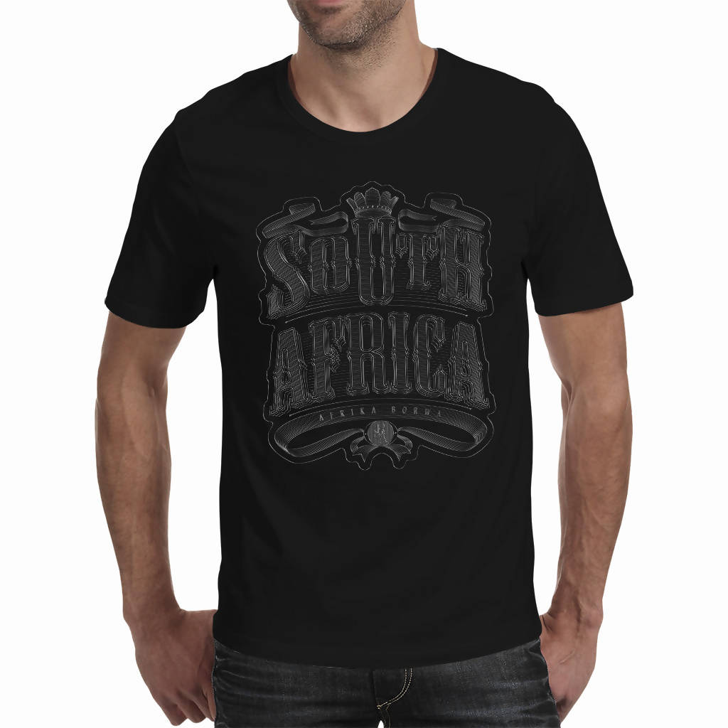 3D Chrome South Africa Vintage Artwork A4 - Men's T-shirt (PAGAwear)
