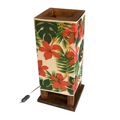 Tropical Hibiscus Piazza Deco Lamp