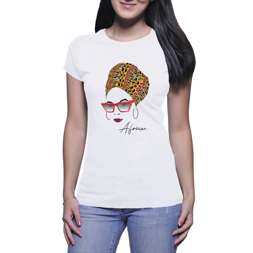 African Kente AfroQueen A4 - Ladies T-shirt (PAGAwear)
