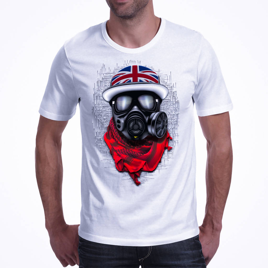 UK Flag Cap Pulsetrooper A3 - Men's T-shirts (Pagawear)