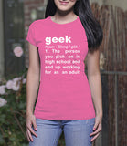 Meaning of Geek (Ladies)