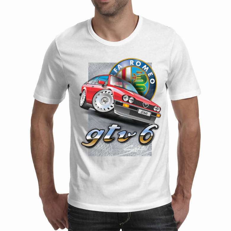 Alfa Romeo Gtv6 White Light Shirt (Stefan's Auto Art)