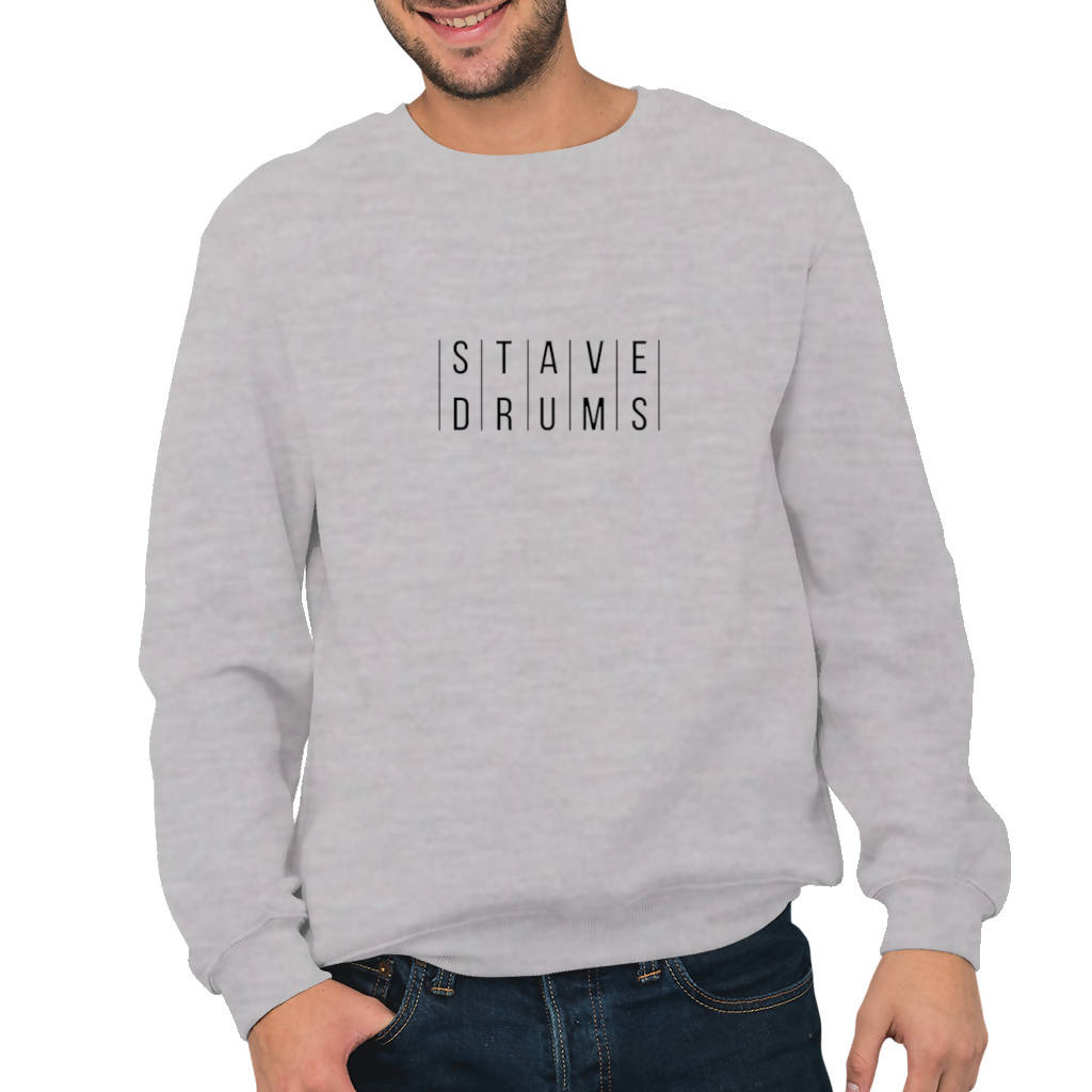 Stave Drums - Men's Sweatshirt (dD Drums)