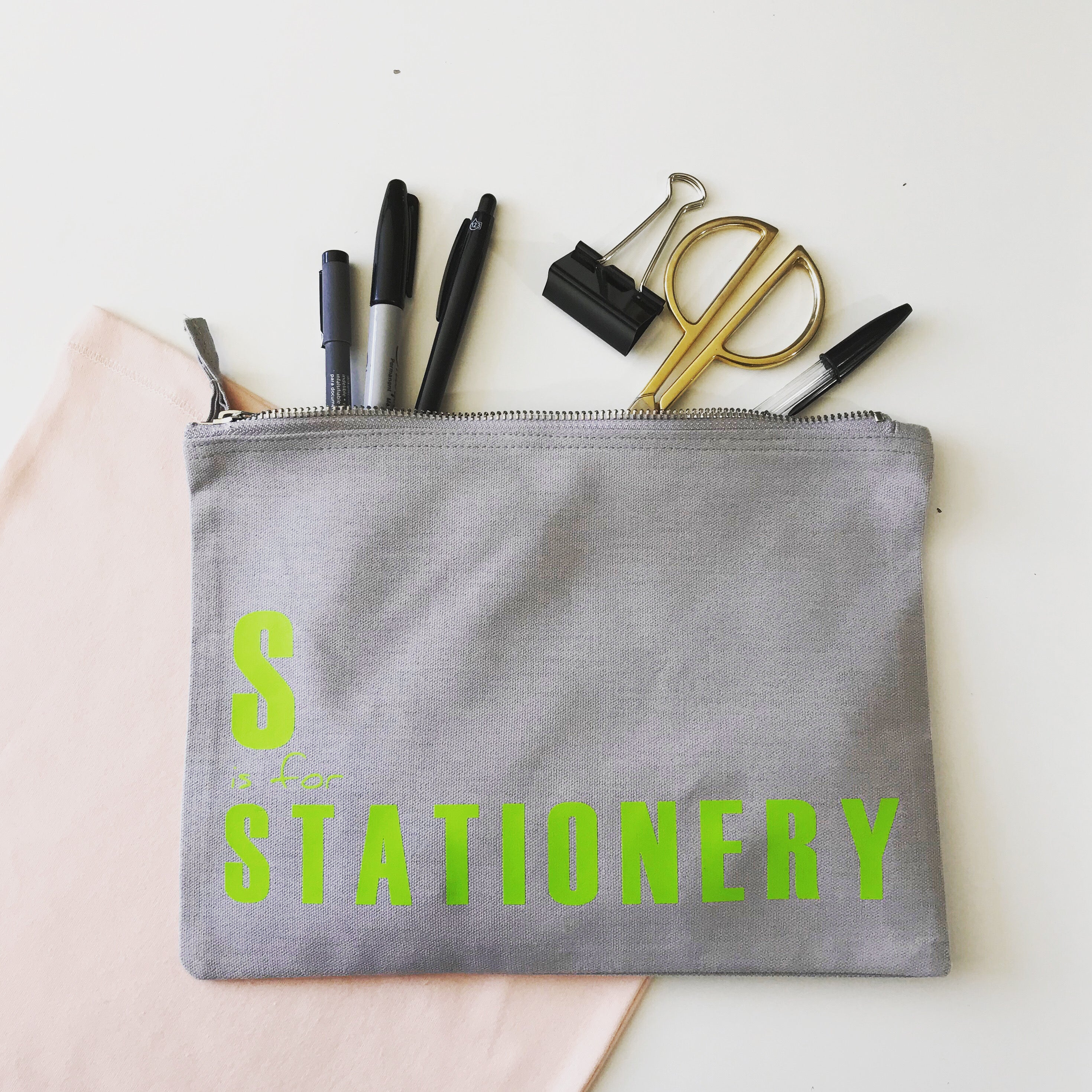 A is For.... Stationery, Makeup and Accessories pouch