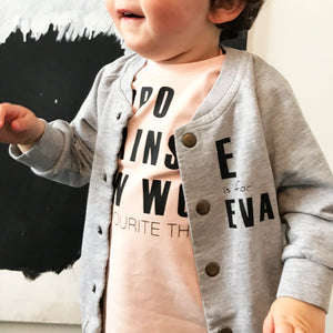 A Is For… Personalised Toddler Sweatshirt Jacket