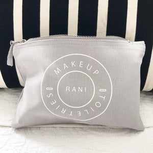 Personalised Minimalist makeup pouch
