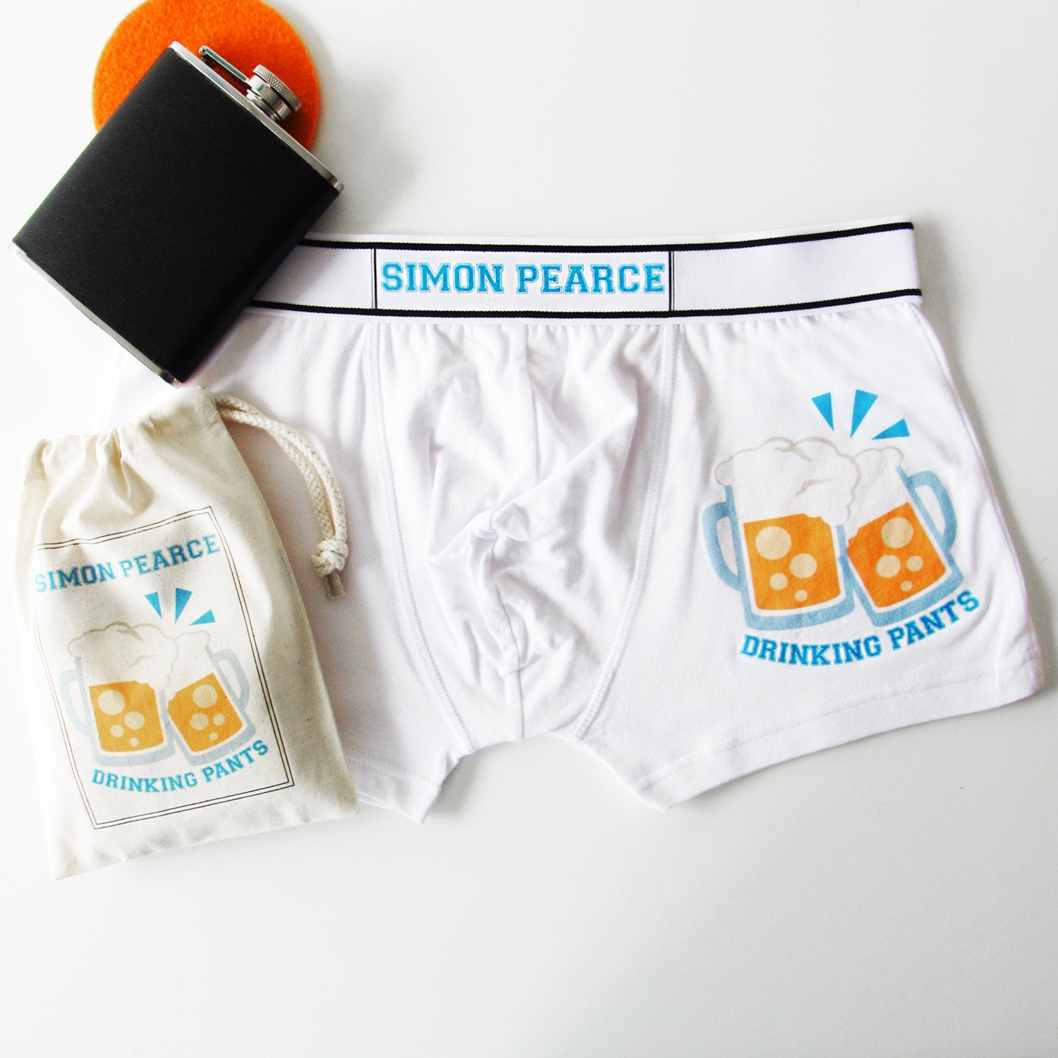 Emoji Personalised Drinking, Men's Boxer Briefs