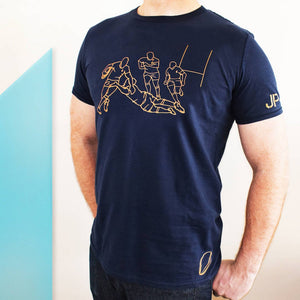 Personalised, Mens Rugby Sports T-Shirt