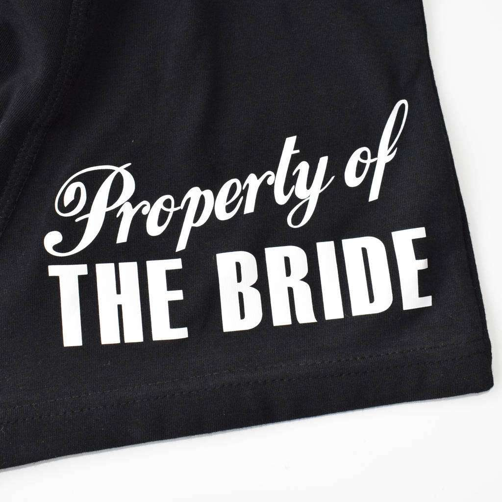 Property Of The Bride, Black Boxer Briefs