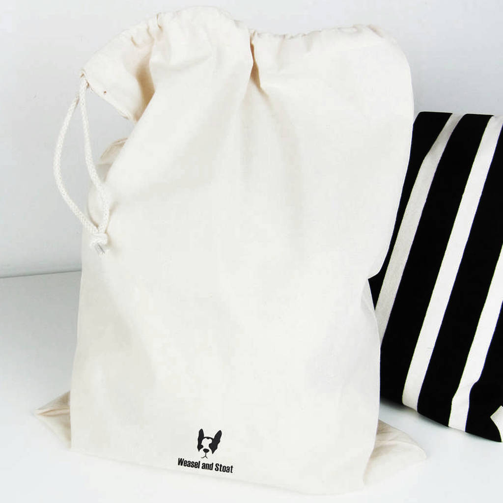 Wash Dry Fold Repeat, Laundry Bag in Natural