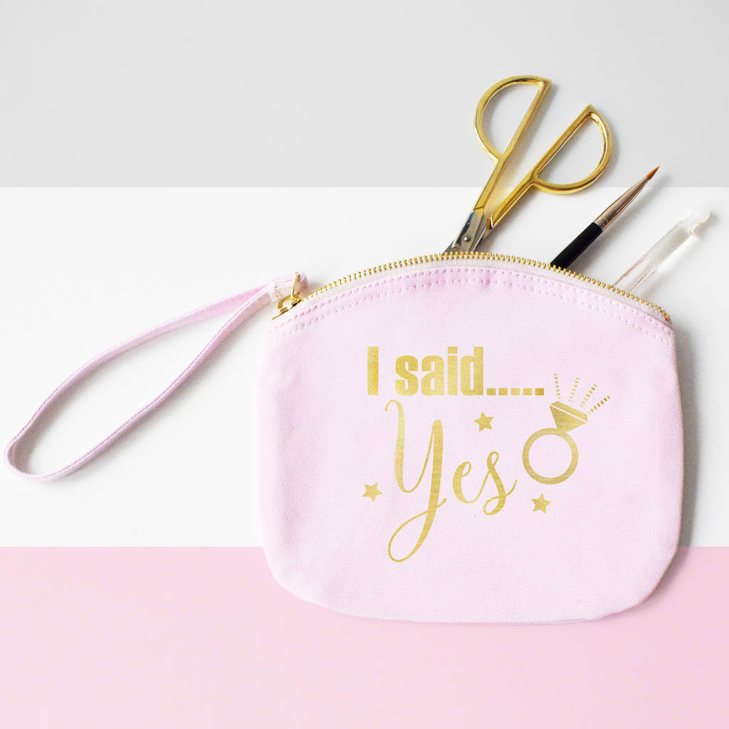 I Said Yes, We Said Party, Hen Party Cosmetics Bags, Pouch, Clutch bag