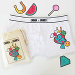 Love Patch Emoji, Personalised Men's Pants, boxer shorts