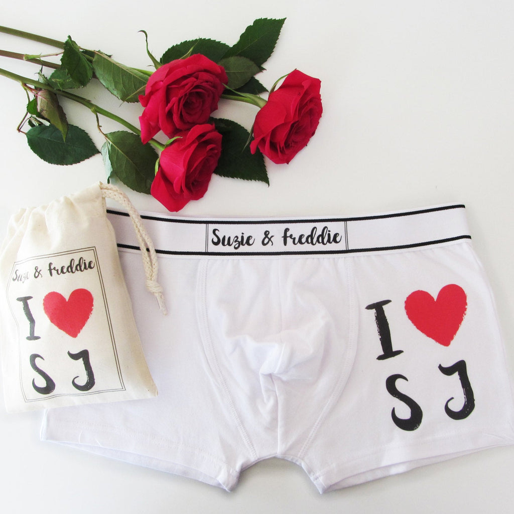 I Love, Personalised Men's Boxer Briefs