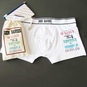 If Lost, Personalised Men's Boxer Briefs