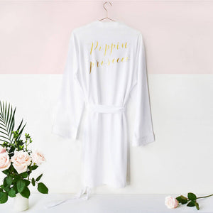 Poppin Prosecco' Wedding Day Dressing Gown Robe