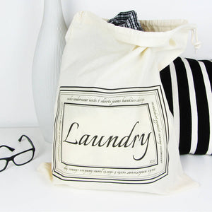 Home And Travel Laundry Bag With Personalised Initials