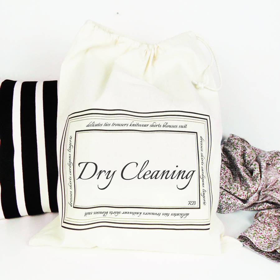 Dry Cleaning Bag With Personalised Initials