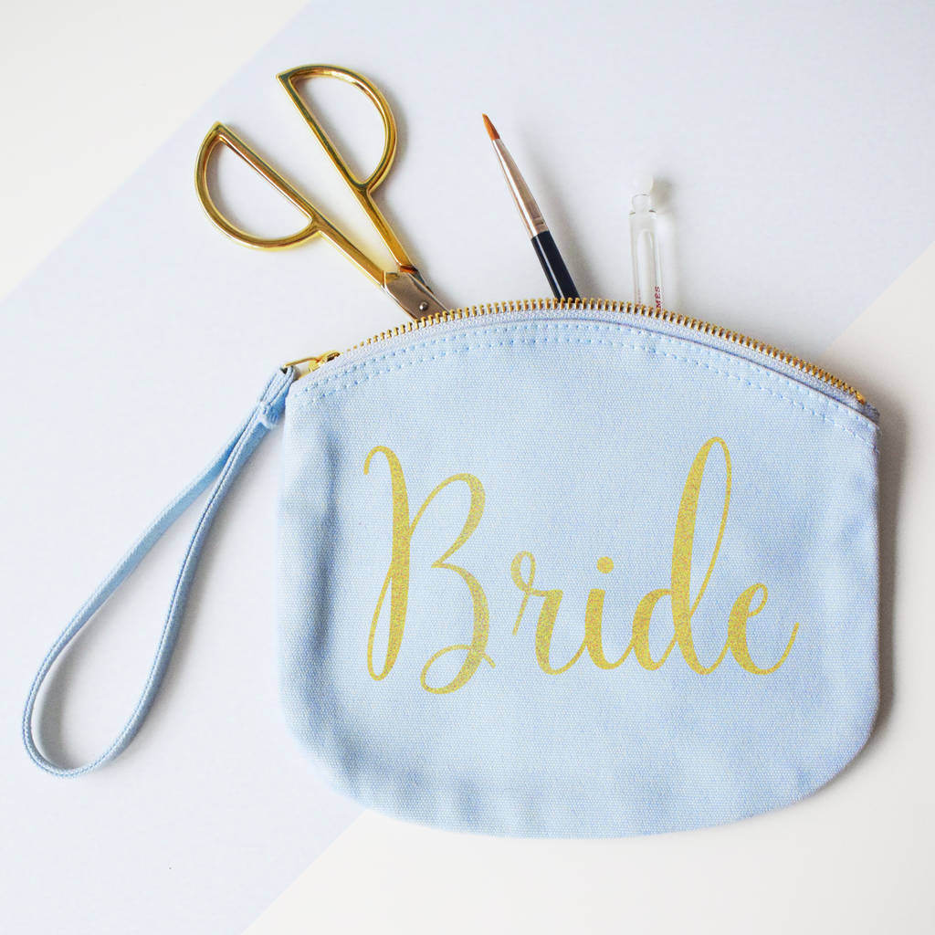Bride, Make Up, Canvas pouch, Clutch Bag