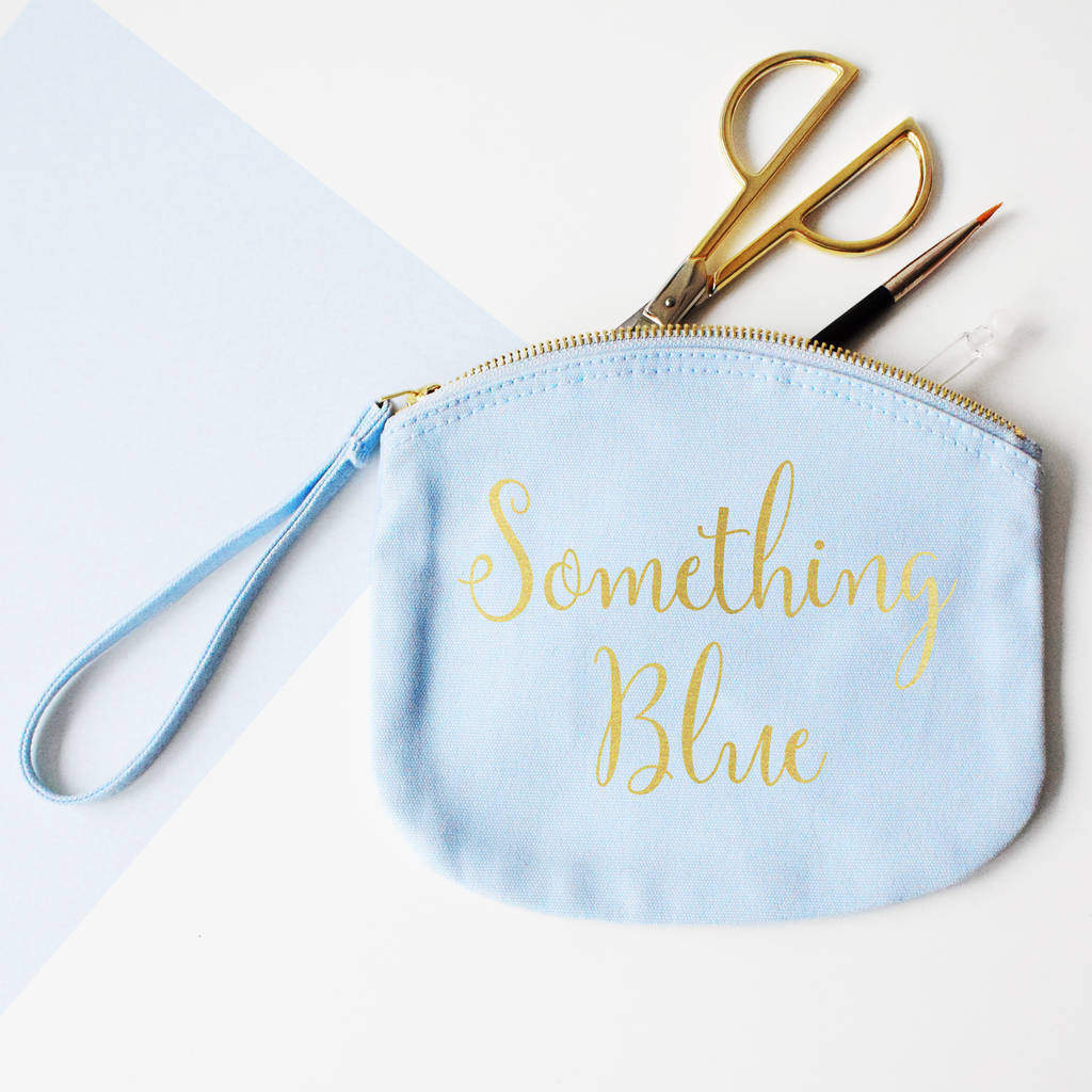 Bride's Wedding 'Something Blue' Makeup, Canvas pouch, Accessories Bag