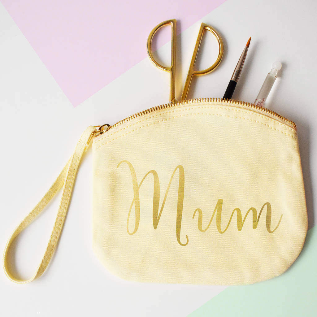 Mum, Make Up Canvas Pouch, clutch bag