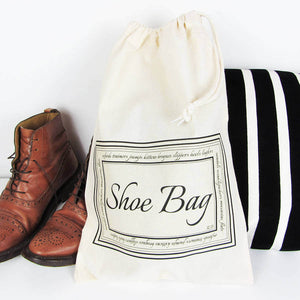 Home And Travel Shoe Bag With Personalised Initials