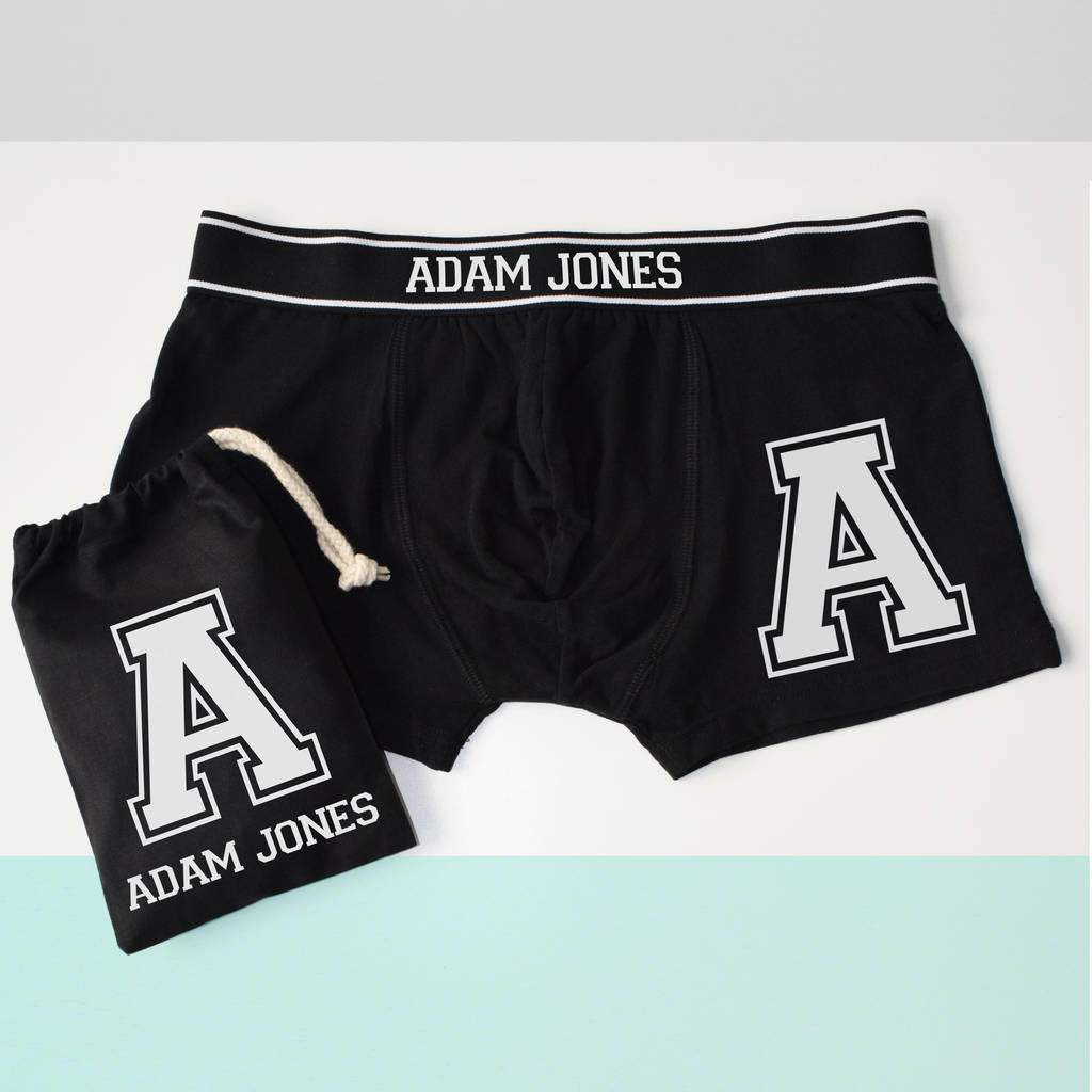 Alphabet Letter or Number Personalised Boxer Briefs